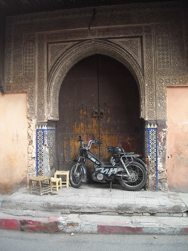 Typical motorbike in Marrakech