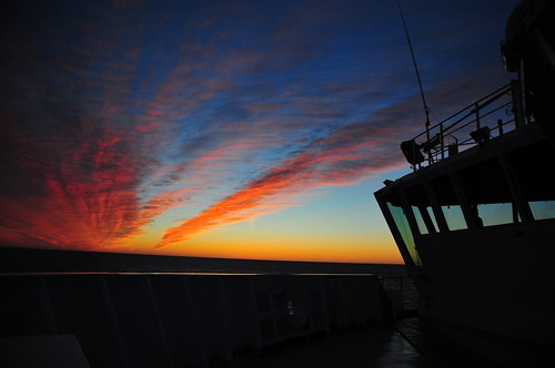 ocean bridge sunset sea ship greenland d300s