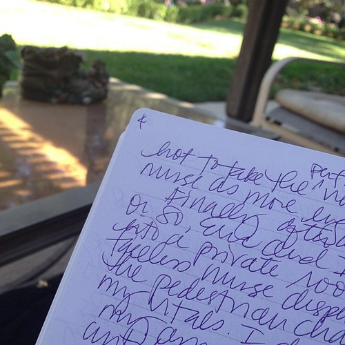 Finally writing something. Sitting on Gram's porch swing...