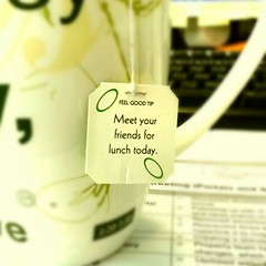 Lipton advise today......luckily I had lunch with mates after a long time.