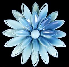 Vintage Blue Flower Enamel Pin93
