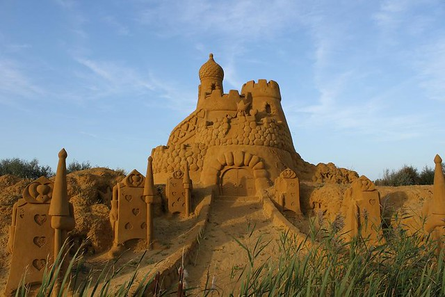 castle from Alice in Wonderland made of sand