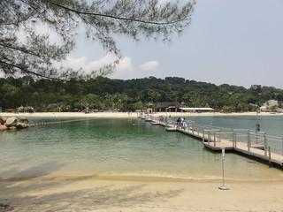 Siloso Beach रेतीले समुद्र तट की छवि. island singapore sentosa