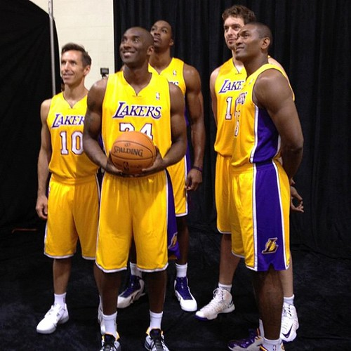 Kobe, Howard, Nash, Gasol, Peace, Los Angeles Lakers, 2012-13 NBA