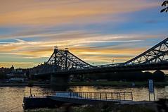 Blaues Wunder Sonnenuntergang
