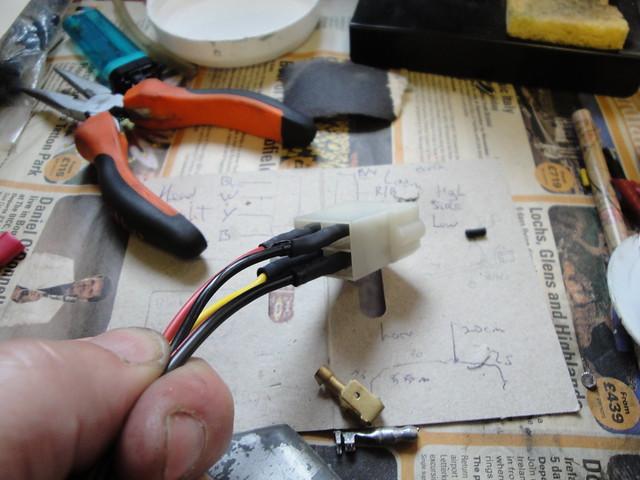Reassembling headlight block connector