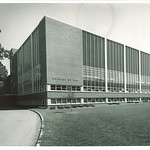 West side of Law Center, the University of Iowa, 1960