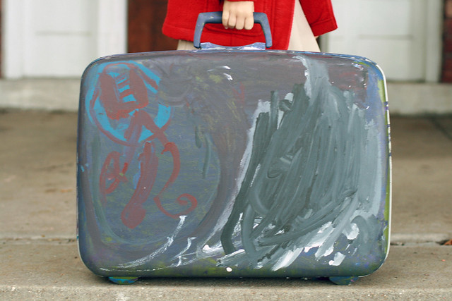 Eliza's Painted Suitcase