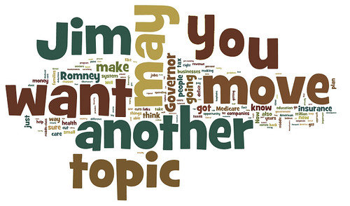 Obama Debate Word Cloud