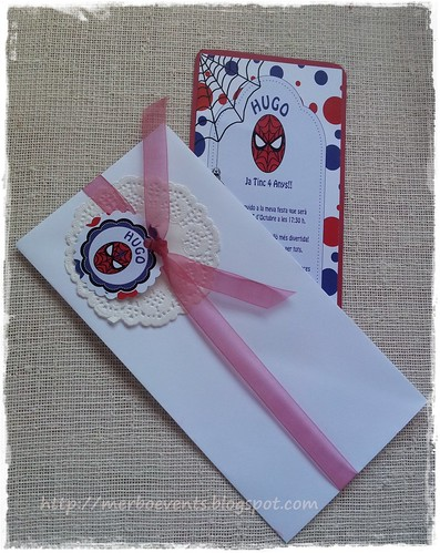 invitaciones niñas spiderman Merbo Events