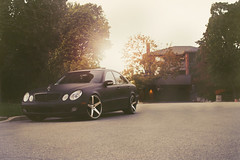 Mercedes E500 x Concavo CW-5 Matte Black Machined Face