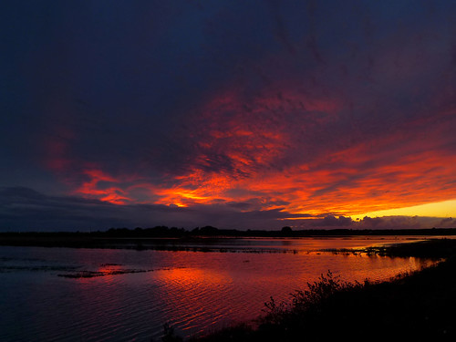 Sunset Over Flooded fields Formby Moss by frazerweb