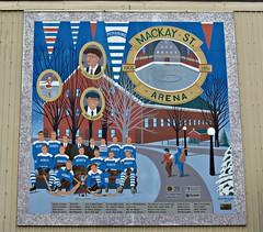 The Mackay Street Arena 1905-1951, Heritage Mural, Pembroke, ON