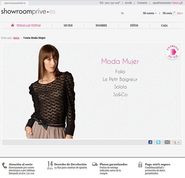 showroomprivee mejores outlet online moda