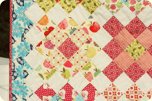 Short Trips Baby Quilt  - a