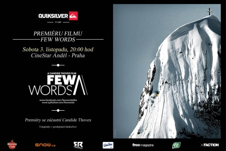 Candide Thovex a jeho freeski film FEW WORDS v Praze