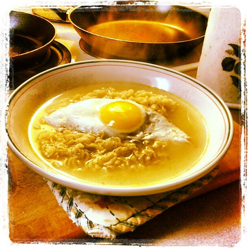 Ramen with fried egg