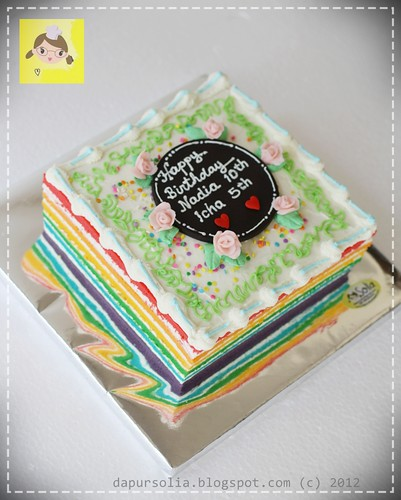 Rainbow Cake for Nadia / Icha