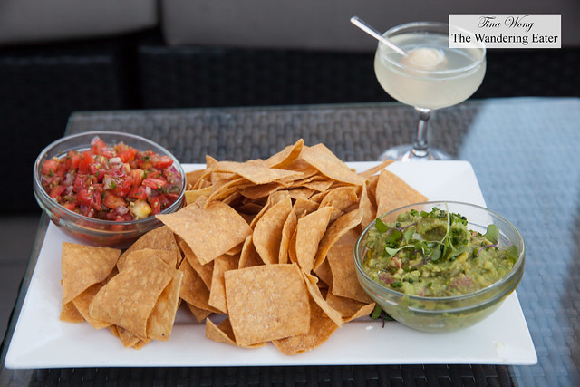 Housemade tortilla chips with fresh guacamole & pico de gallo