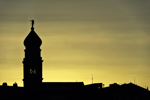 sunrise city yellow silhouette church krk croatia summer nikon nikond750 nikkor283003556 hrvojesimich gazzda