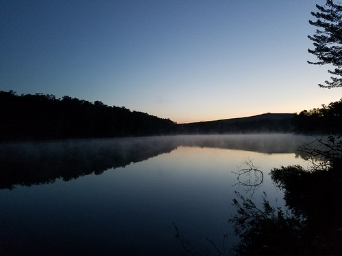 Dunmore Reservoir No. 1 before sunrise