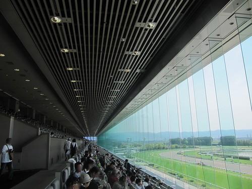 京都競馬場の指定席の様子