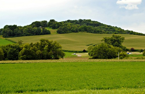Rolling Hills east of Richland Center, Wisconsin