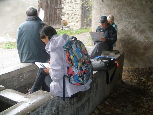 Initiation au rando croquis lors des journées du patrimoine à Valjouffrey