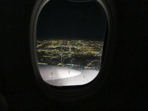 Landing in LA at night