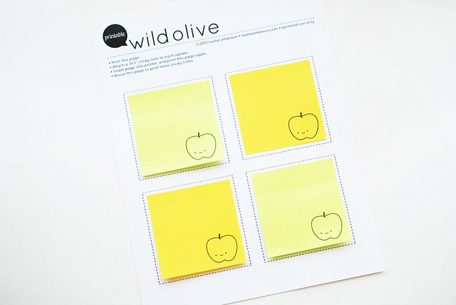 Printable Apple Sticky Notes