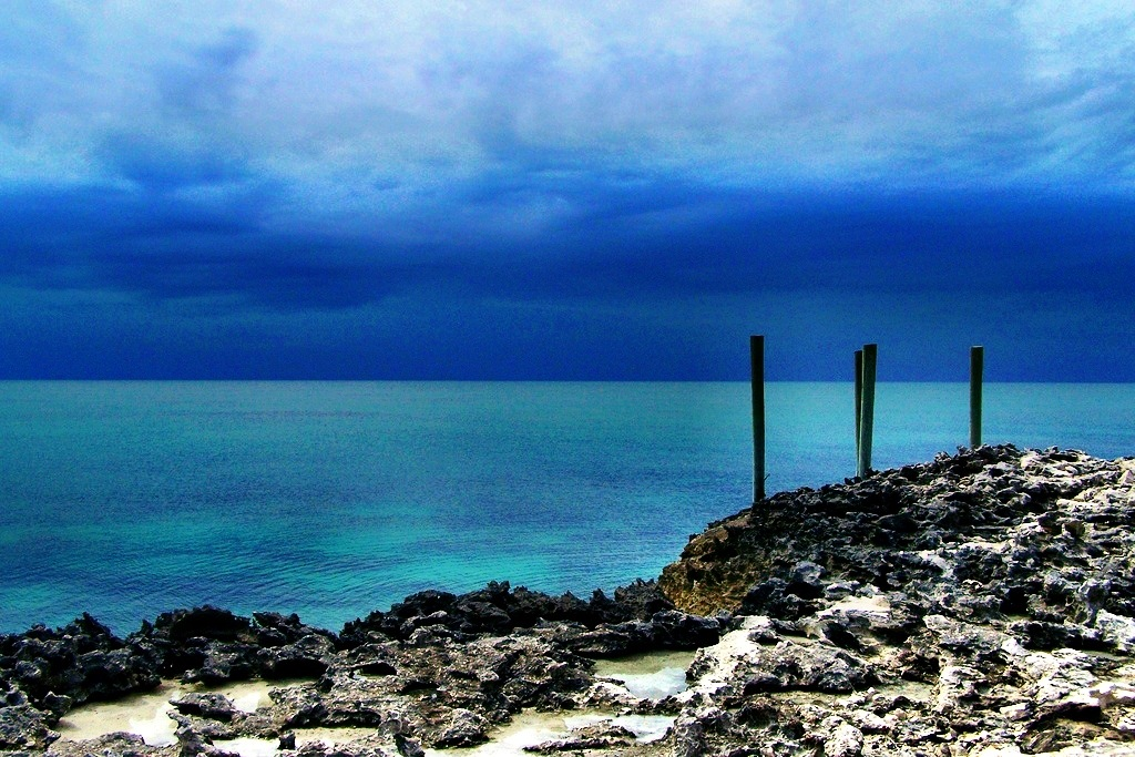 Clouds of an impending storm, Rose Island Bahamas