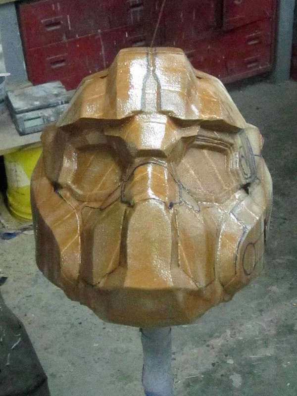 BE Helmet Front Progress