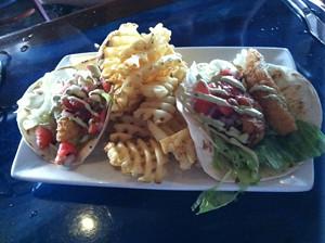 Fish Tacos, Blu Que Island Grill, Siesta Key, Sarasota, FL