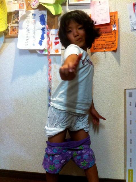 パジャマのパンツを履いたまま学校に行っちゃった