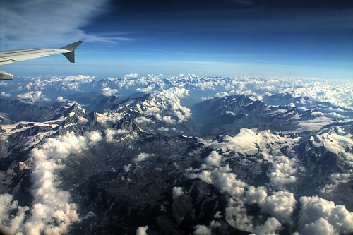The Alps from an Airbus