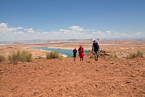 Lake Powell in the background