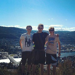 Edd, Alex and me on the top of Drammen :)