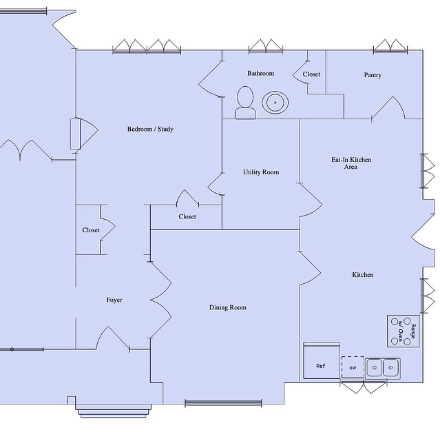 Floor Plans with Kitchen in Front of House