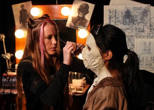 La Llorona face prosthetic before paint