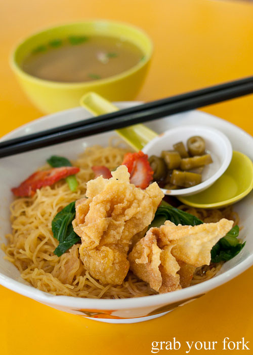 wonton noodle at kallang estate food centre singapore