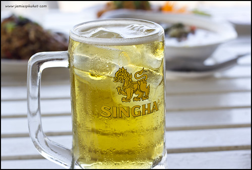 Singha Beer with Ice