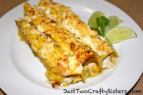 Tomatillo chicken enchilladas recipe