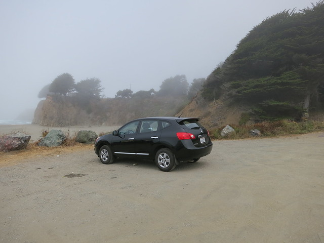 Nissan Rogue on the beach