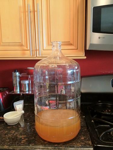 Honey, and water