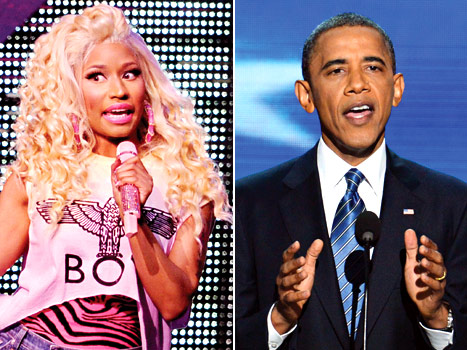 Obama and Minaj