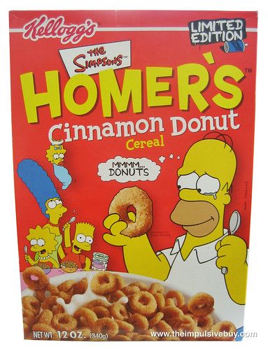 Limited Edition Kellogg's The Simpsons Homer's Cinnamon Donut Cereal