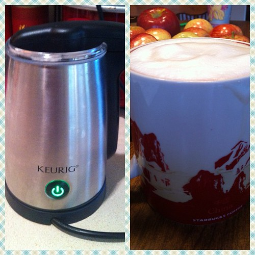 I love my #keurig milk frother!  #coffee