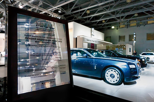 Rolls-Royce Ghost gets the best luxury car award at the Moscow International Motor Show