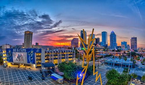 city sunset tampa downtown florida nik lightning hdr topaz tampabaylightning oloneo tampabaytimesforum