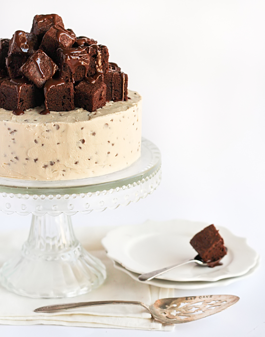 Fudge Brownie & Cookie Dough Cake